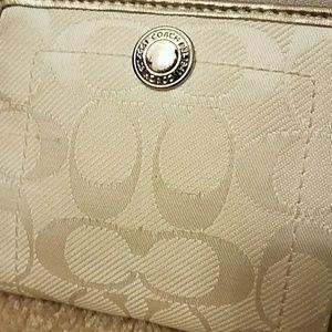 Coach fabric zip around wallet
